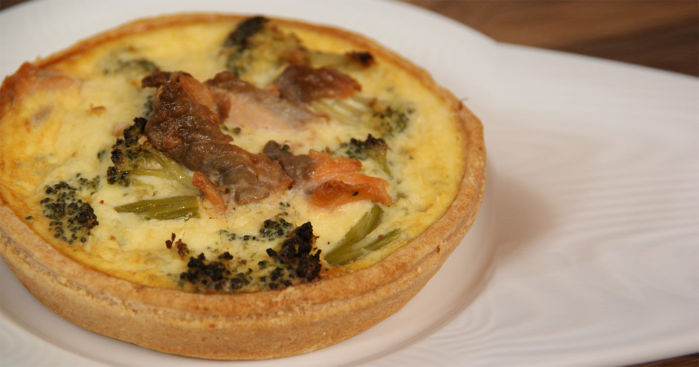 Quiche cuite saumon brocoli